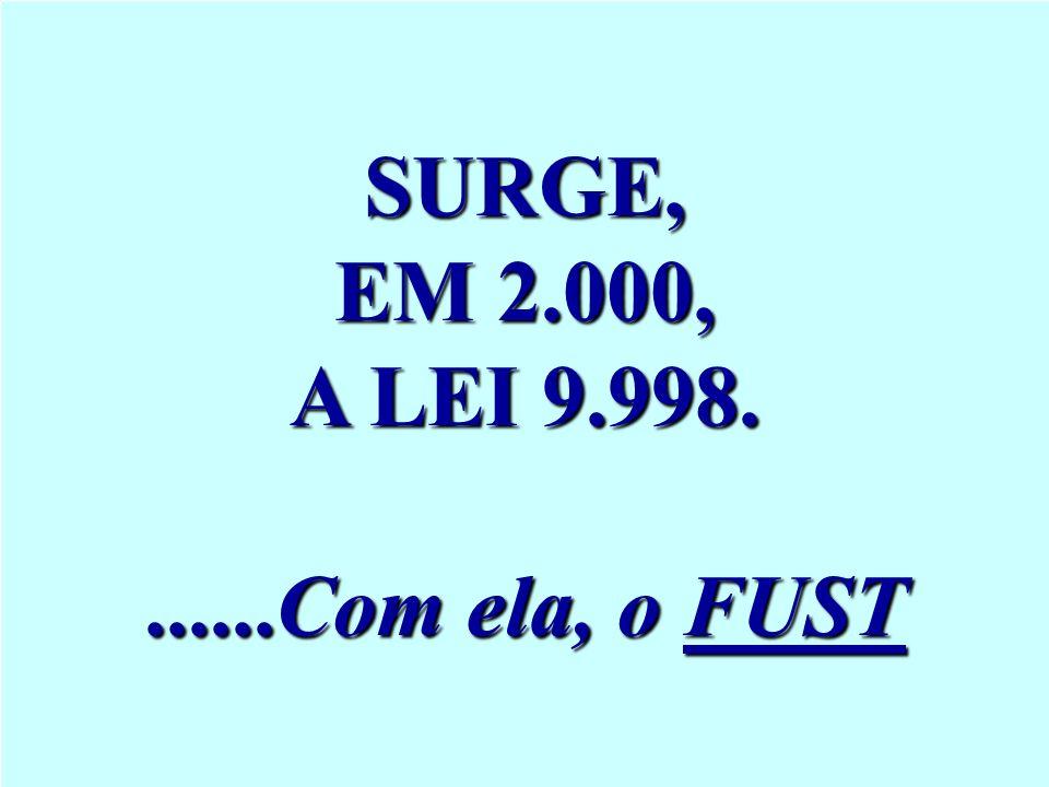 SURGE, EM 2.000, A LEI 9.998.......Com ela, o FUST