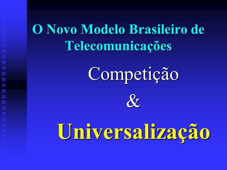 O Novo Modelo Brasileiro de Telecomunicações Competição&Universalização