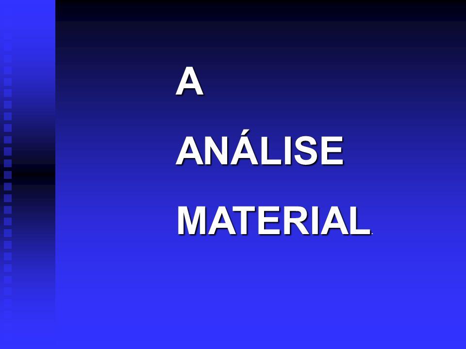 AANÁLISE MATERIAL MATERIAL.
