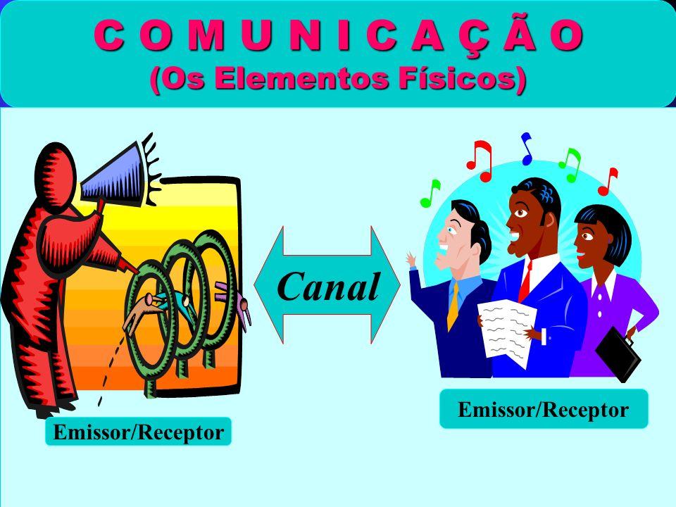 C O M U N I C A Ç Ã O (Os Elementos Físicos) Emissor/Receptor Canal