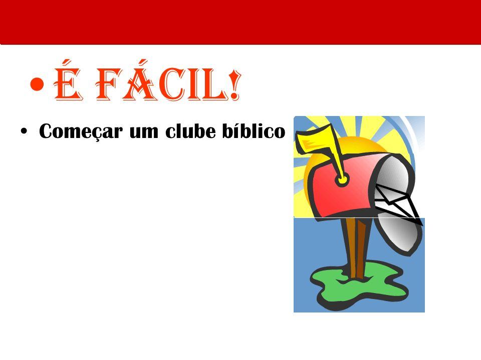 É Fácil! Começar um clube bíblico