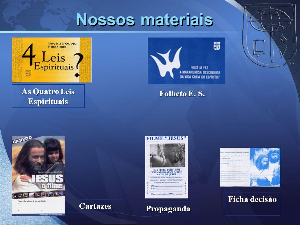Nossos materiaisCartazes Ficha decisão As Quatro Leis Espirituais Propaganda Folheto E. S.