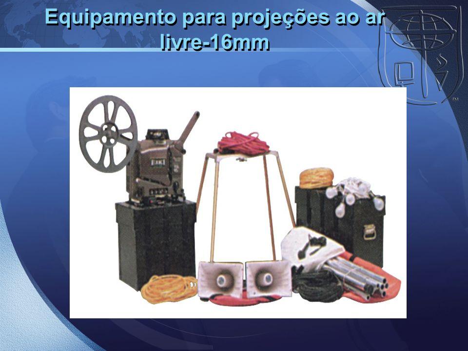 Equipamento para projeções ao ar livre-16mm