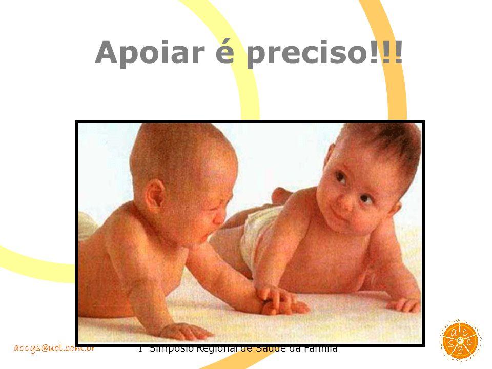 accgs@uol.com.br I Simpósio Regional de Saúde da Família Apoiar é preciso!!!