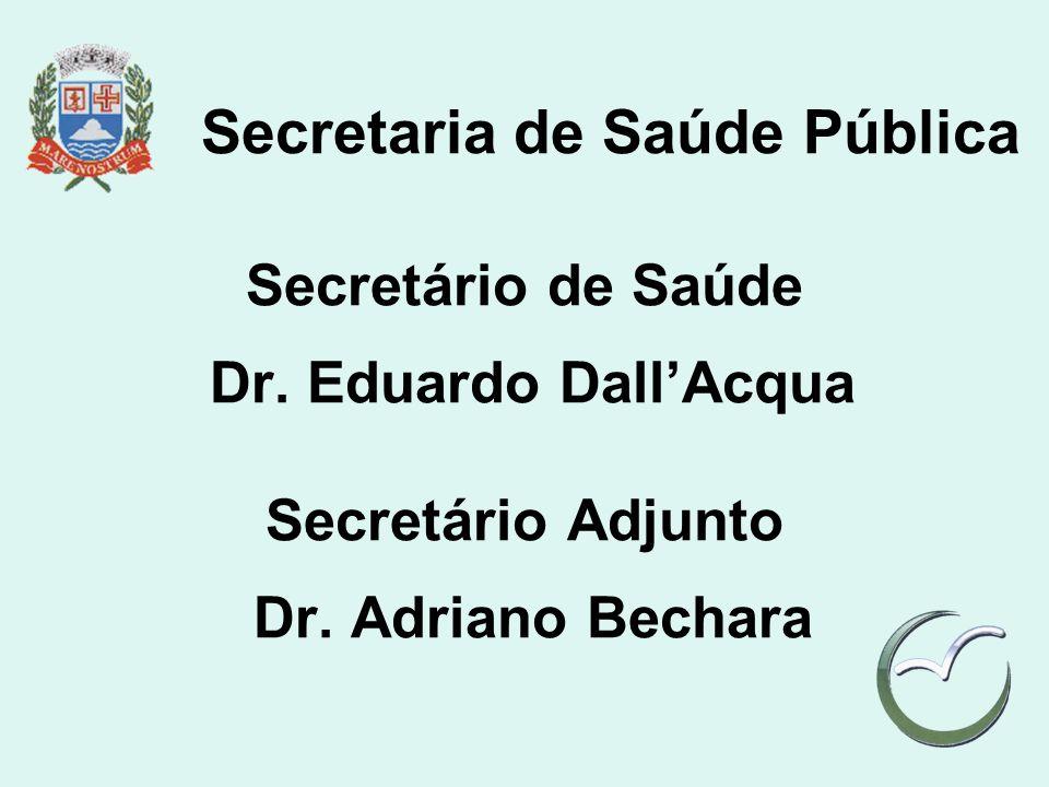 Secretaria de Saúde Pública Secretário de Saúde Dr. Eduardo DallAcqua Secretário Adjunto Dr. Adriano Bechara