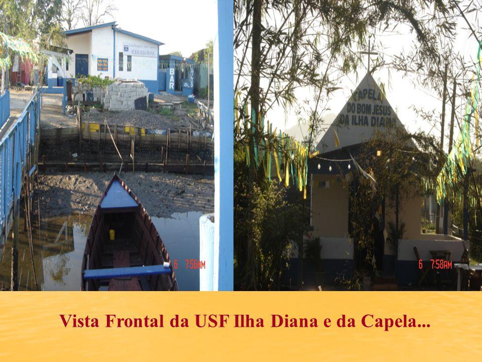Vista Frontal da USF Ilha Diana e da Capela...