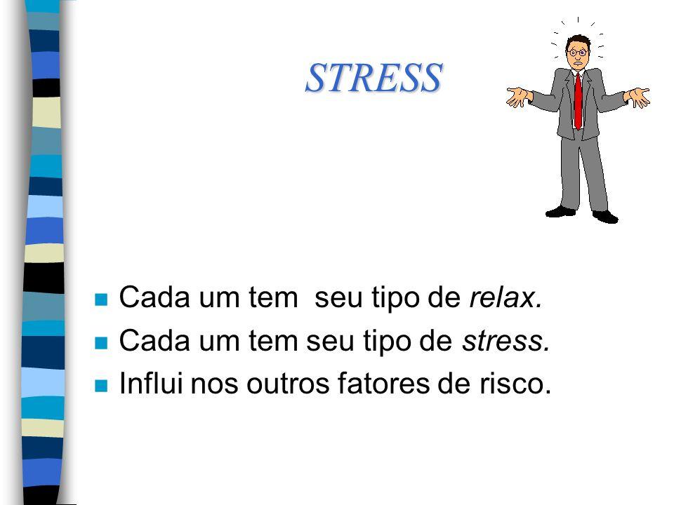 STRESS n Cada um tem seu tipo de relax.n Cada um tem seu tipo de stress.