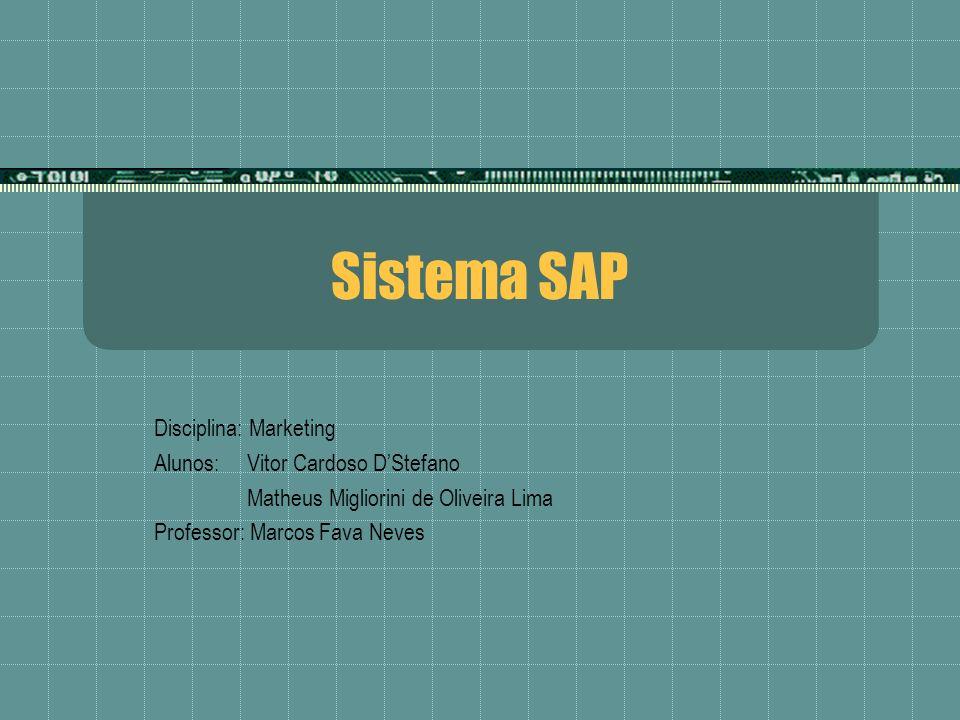Sistema SAP Disciplina: Marketing Alunos: Vitor Cardoso DStefano Matheus Migliorini de Oliveira Lima Professor: Marcos Fava Neves