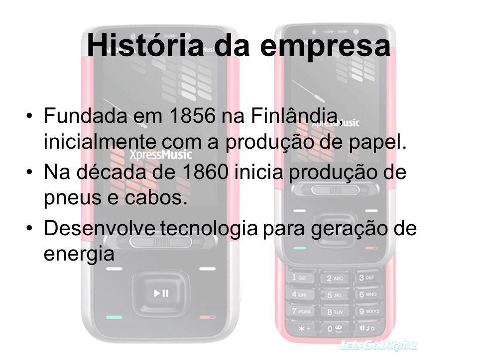 História da empresa Fundada em 1856 na Finlândia, inicialmente com a produção de papel. Na década de 1860 inicia produção de pneus e cabos. Desenvolve