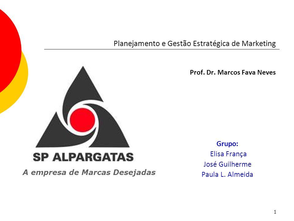 1 Grupo: Elisa França José Guilherme Paula L. Almeida Planejamento e Gestão Estratégica de Marketing Prof. Dr. Marcos Fava Neves A empresa de Marcas D