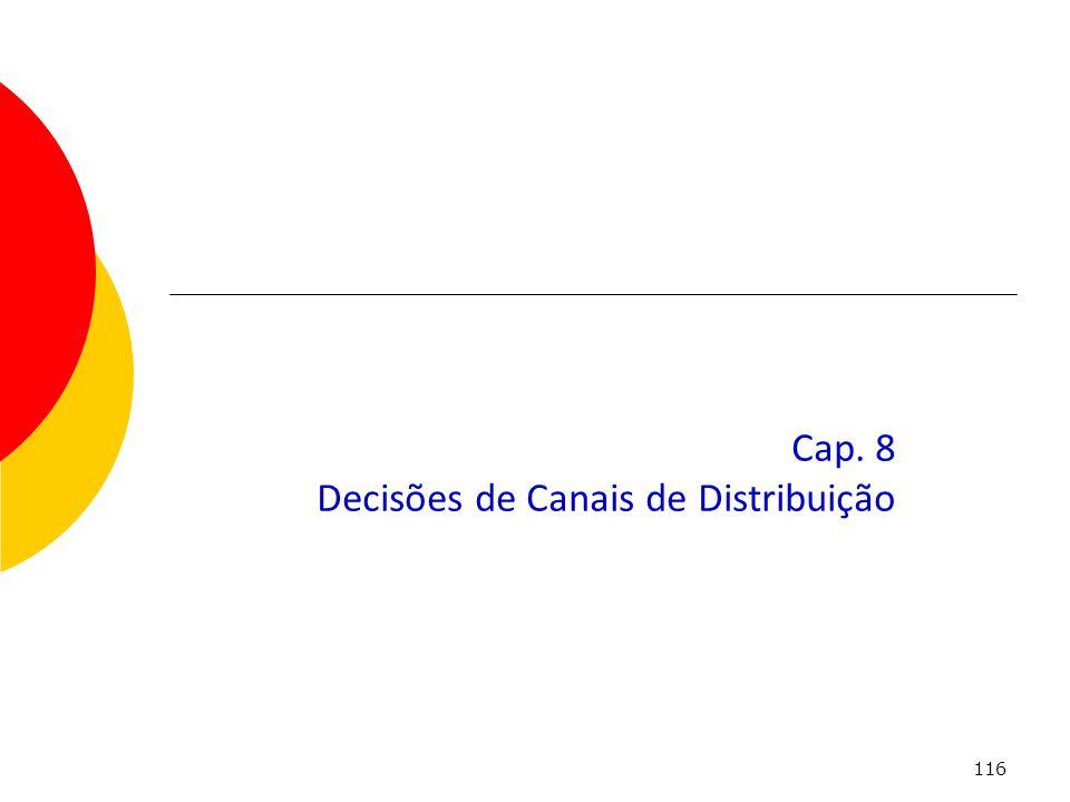 116 Cap. 8 Decisões de Canais de Distribuição