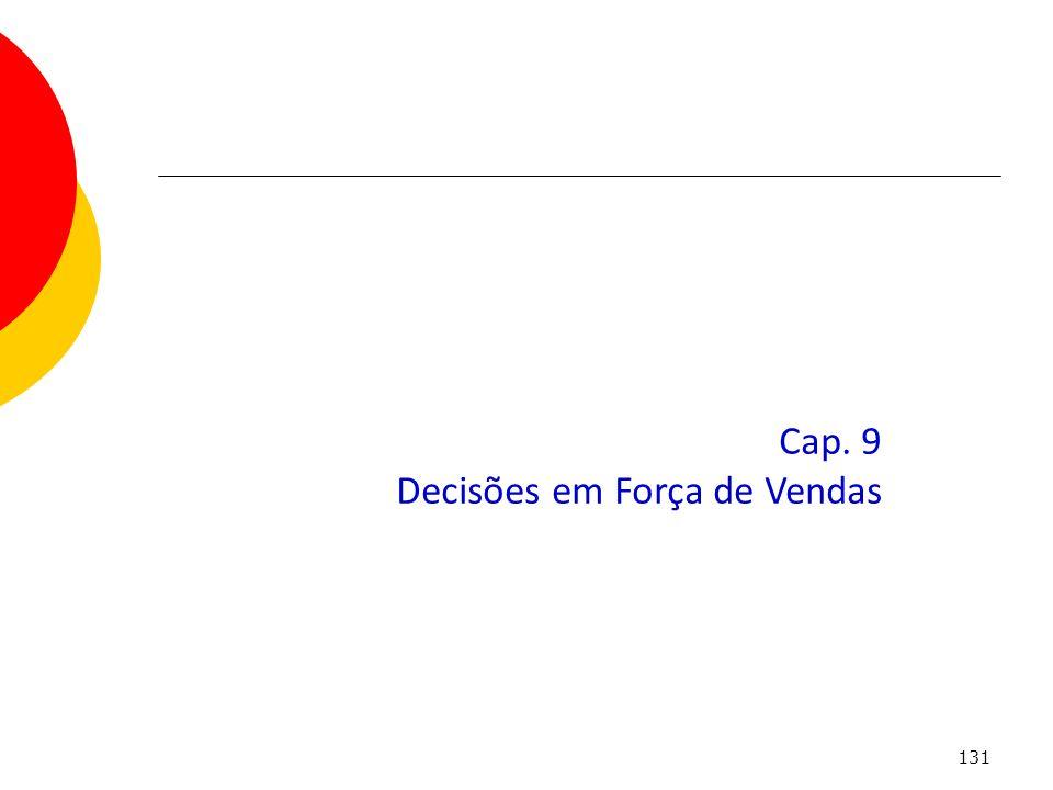 131 Cap. 9 Decisões em Força de Vendas
