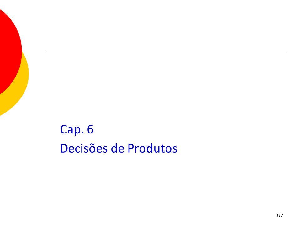 67 Cap. 6 Decisões de Produtos Capítulo 6