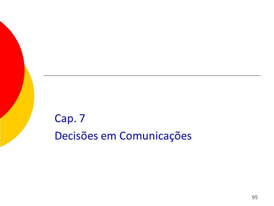 95 Cap. 7 Decisões em Comunicações