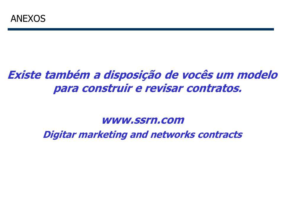 56 ANEXOS Existe também a disposição de vocês um modelo para construir e revisar contratos. www.ssrn.com Digitar marketing and networks contracts