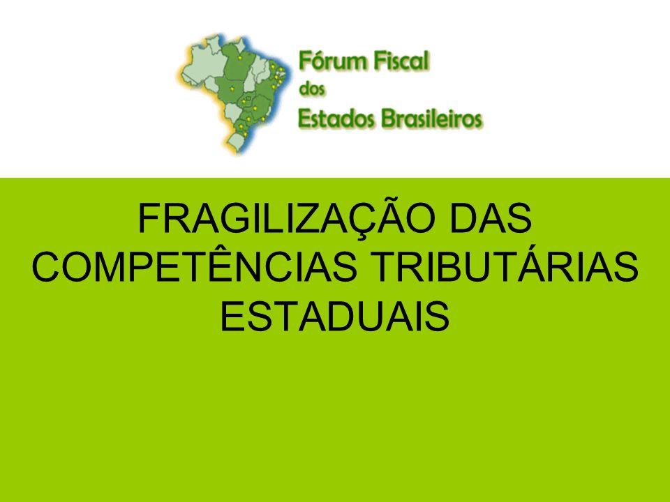 1 FRAGILIZAÇÃO DAS COMPETÊNCIAS TRIBUTÁRIAS ESTADUAIS