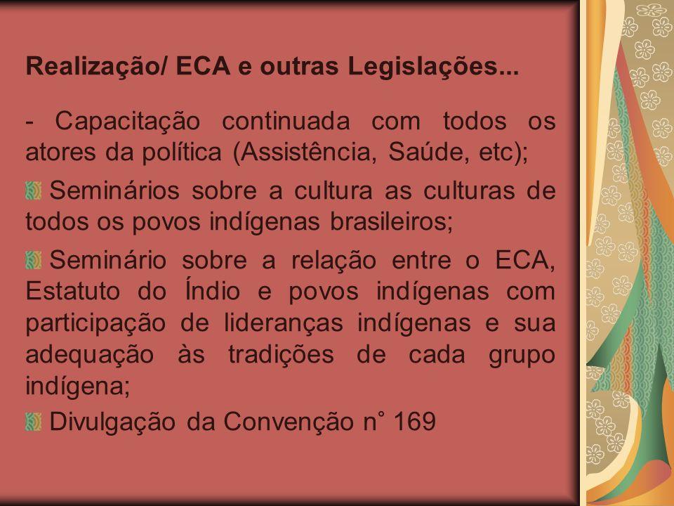 Realização/ ECA e outras Legislações...