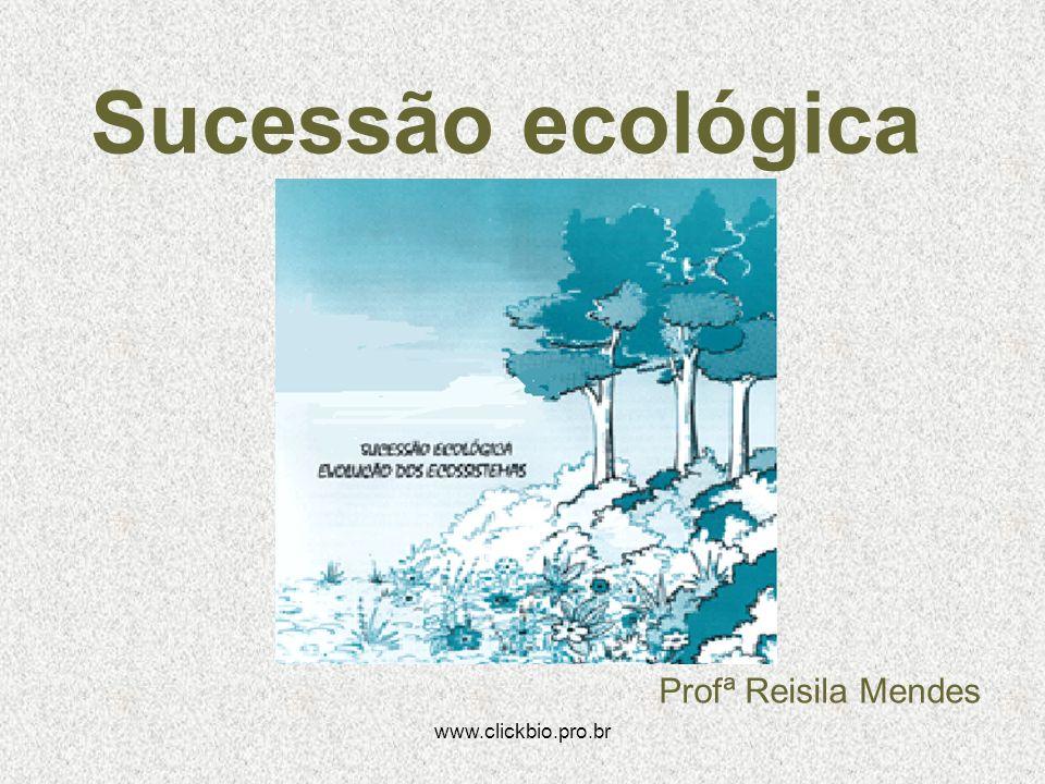 www.clickbio.pro.br Sucessão ecológica Profª Reisila Mendes