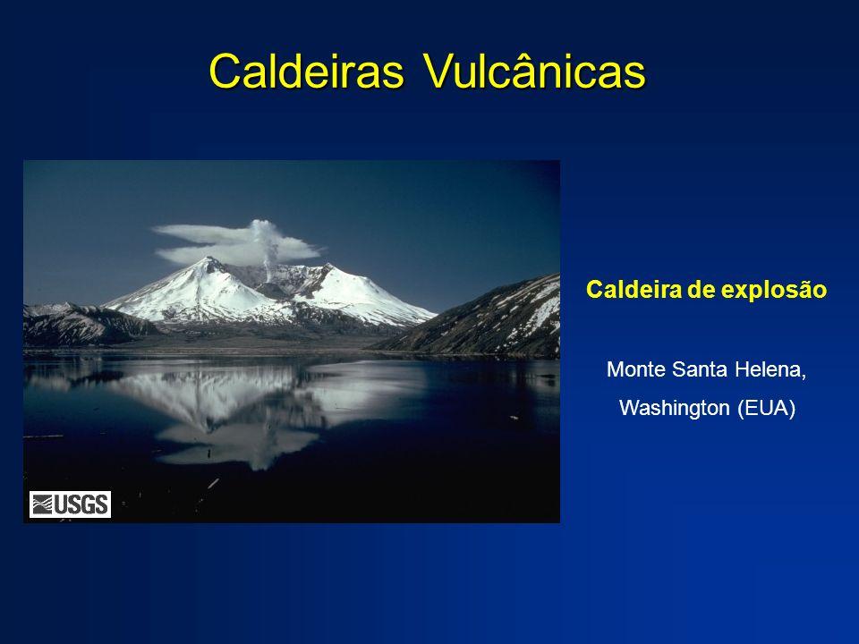 Caldeira de explosão Monte Santa Helena, Washington (EUA) Caldeiras Vulcânicas