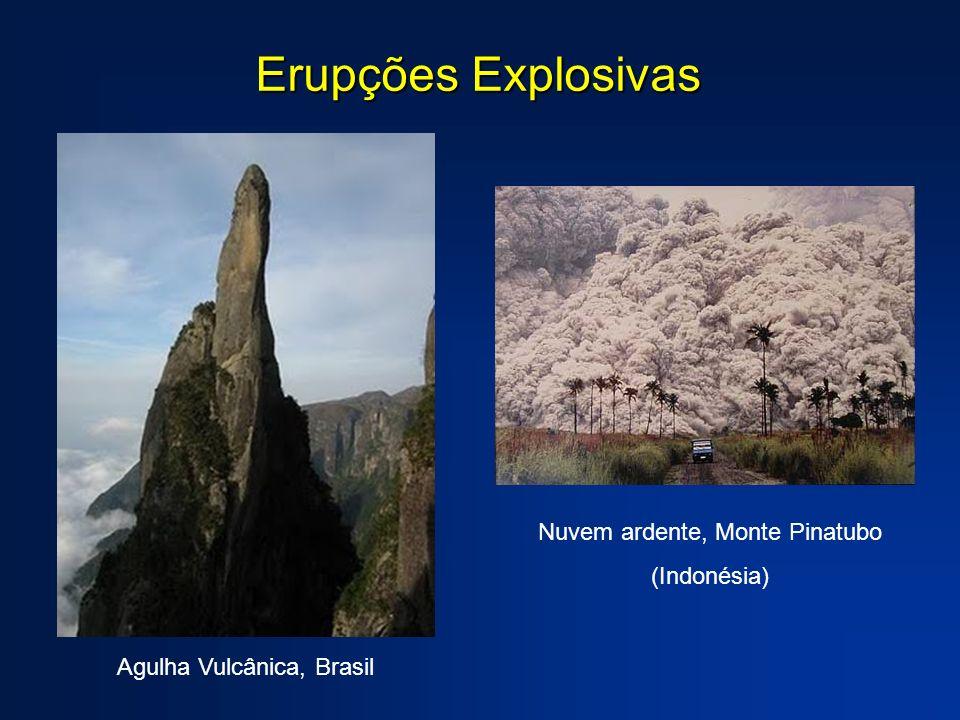 Agulha Vulcânica, Brasil Nuvem ardente, Monte Pinatubo (Indonésia) Erupções Explosivas