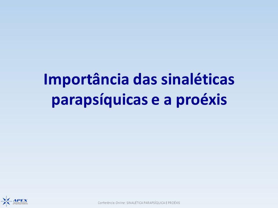 Conferência Online: SINALÉTICA PARAPSÍQUICA E PROÉXIS Importância das sinaléticas parapsíquicas e a proéxis