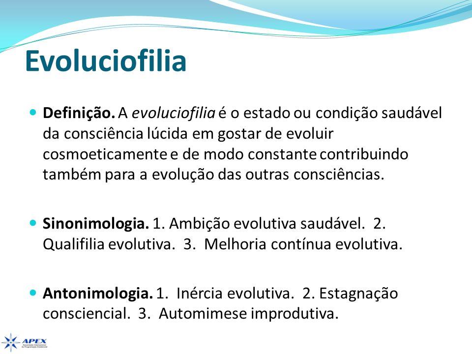 Evoluciofilia Você possui ambição evolutiva.Qual é o limite de sua ambição.