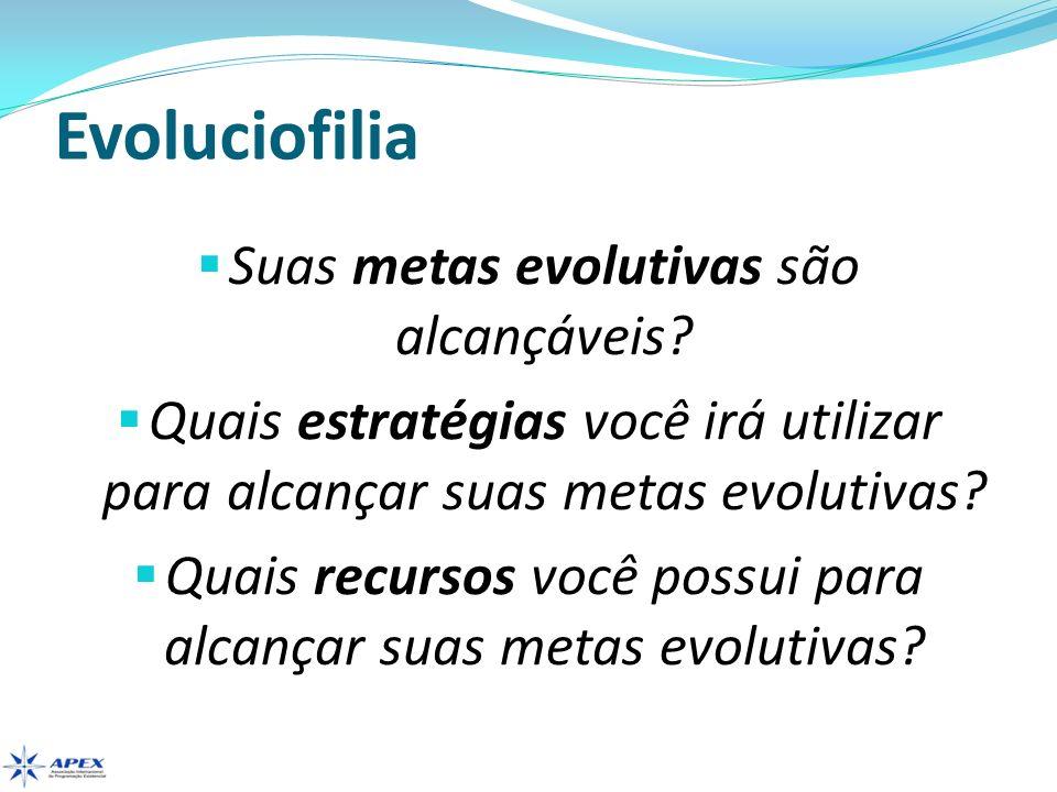 Evoluciofilia Quais são suas prioridades evolutivas.
