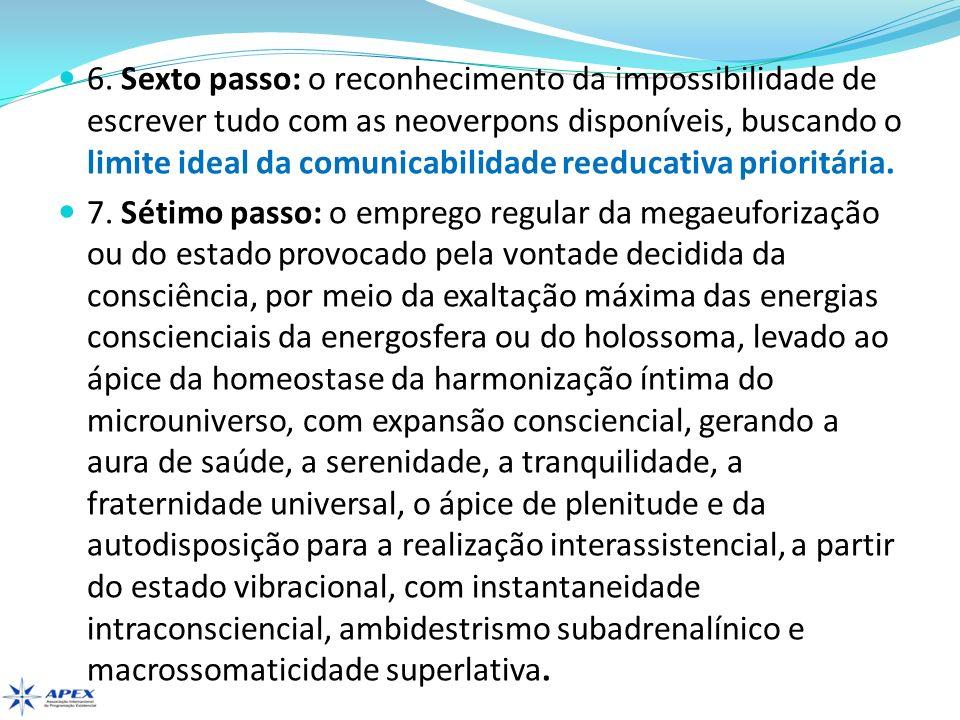 6. Sexto passo: o reconhecimento da impossibilidade de escrever tudo com as neoverpons disponíveis, buscando o limite ideal da comunicabilidade reeduc