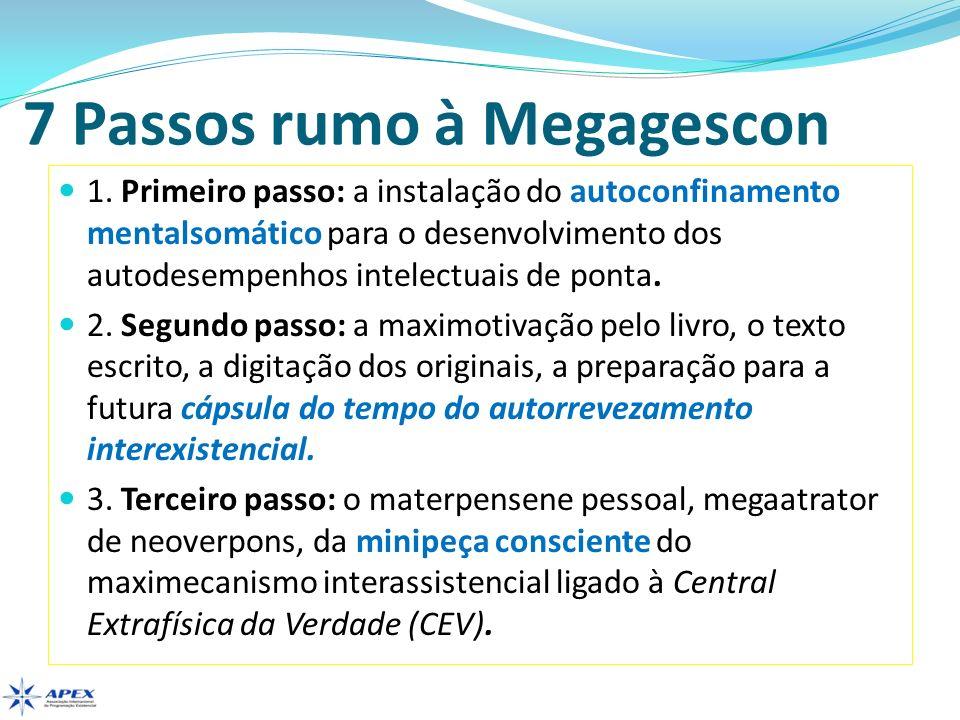 7 Passos rumo à Megagescon 1. Primeiro passo: a instalação do autoconfinamento mentalsomático para o desenvolvimento dos autodesempenhos intelectuais