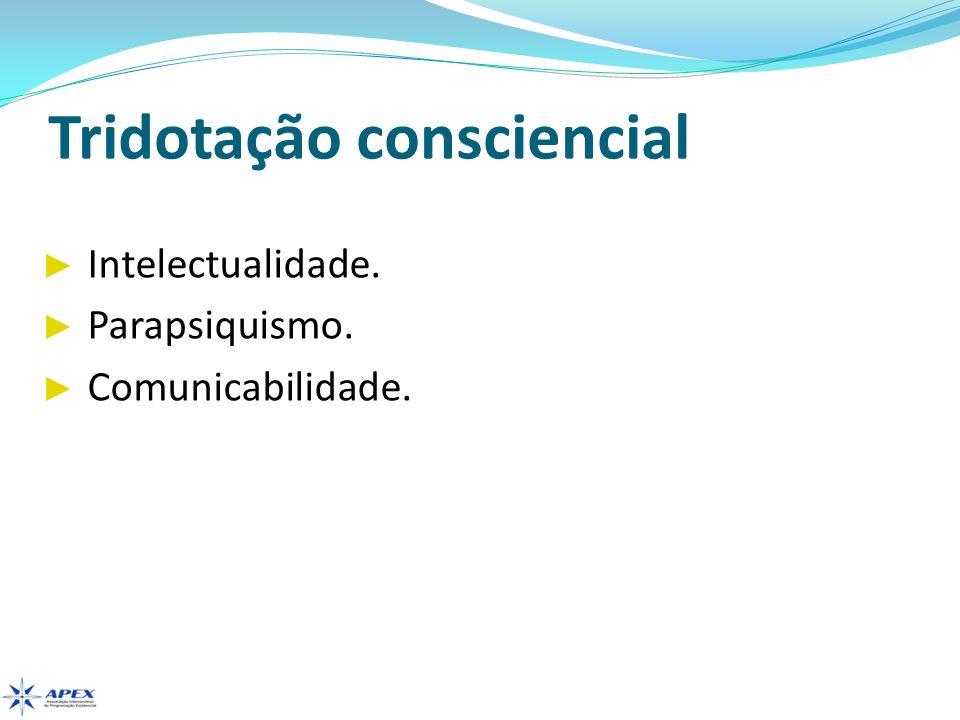 Tridotação consciencial Intelectualidade. Parapsiquismo. Comunicabilidade.