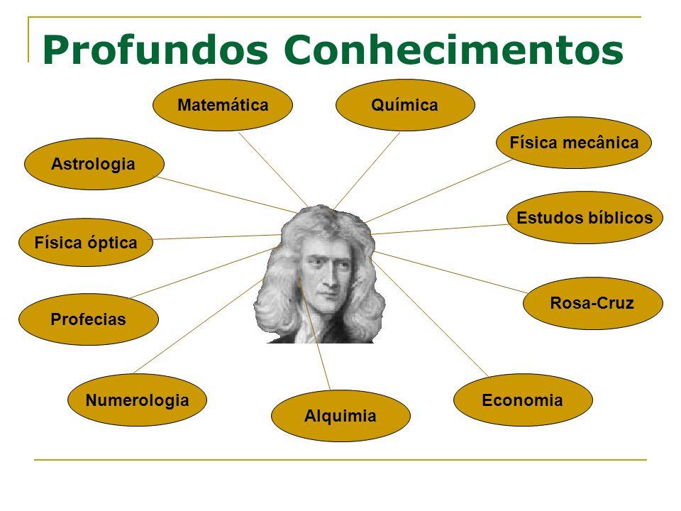 Profundos Conhecimentos Física óptica Matemática Física mecânica Química Estudos bíblicos Profecias Rosa-Cruz Economia Alquimia Numerologia Astrologia