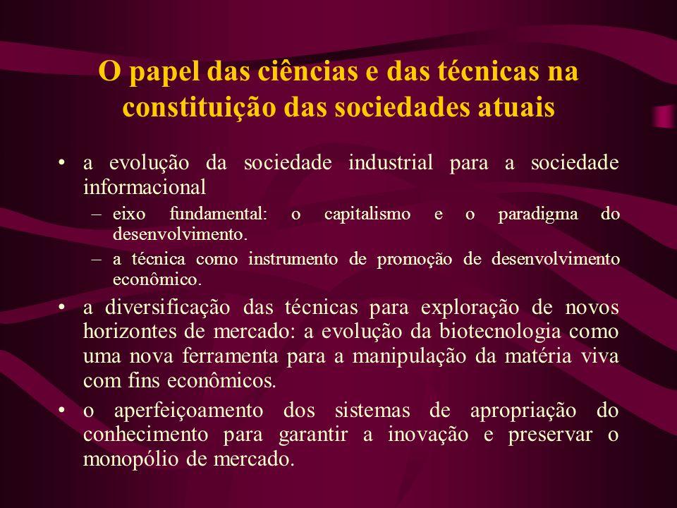 O papel das ciências e das técnicas na constituição das sociedades atuais a evolução da sociedade industrial para a sociedade informacional –eixo fund