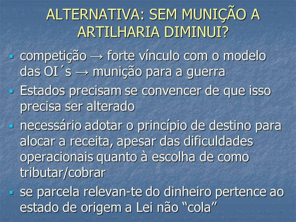 ALTERNATIVA: SEM MUNIÇÃO A ARTILHARIA DIMINUI.