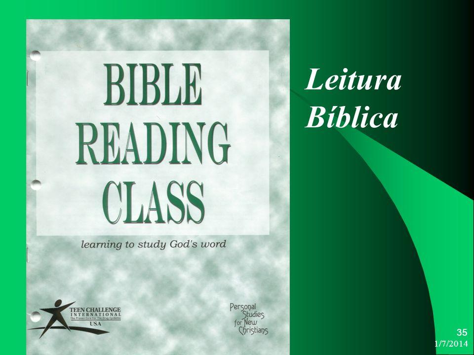1/7/2014 35 Leitura Bíblica