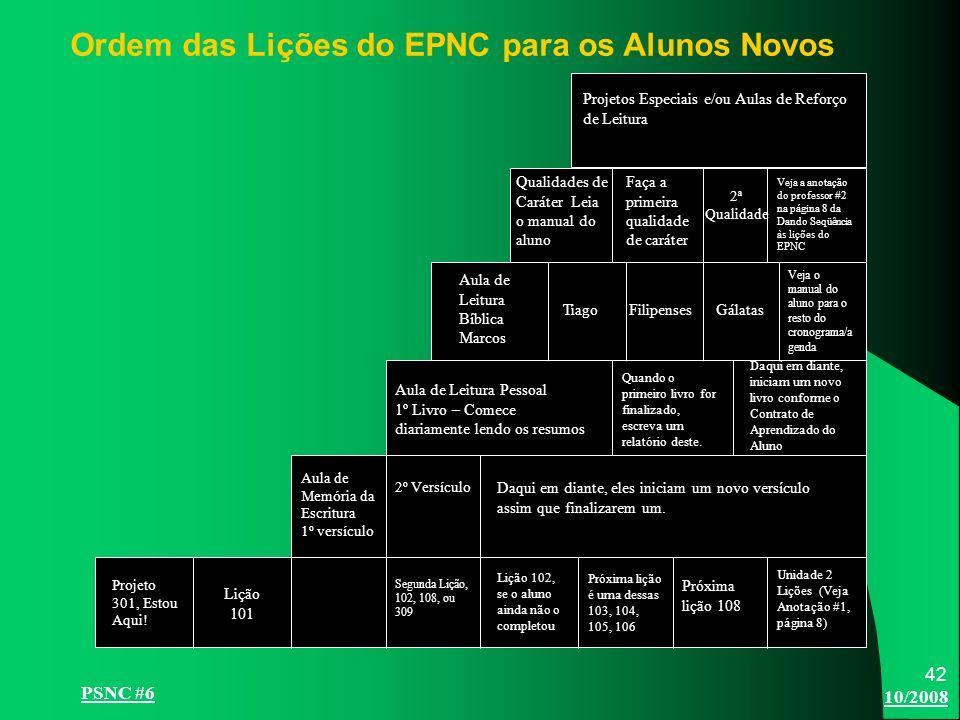 10/2008 PSNC #6 42 Projeto 301, Estou Aqui.
