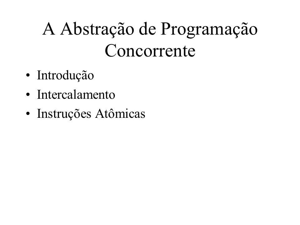 A Abstração de Programação Concorrente Introdução Intercalamento Instruções Atômicas
