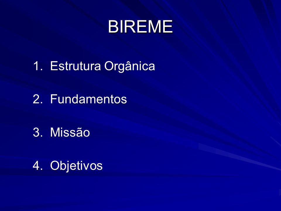 BIREME 1. Estrutura Orgânica 2. Fundamentos 3. Missão 4. Objetivos
