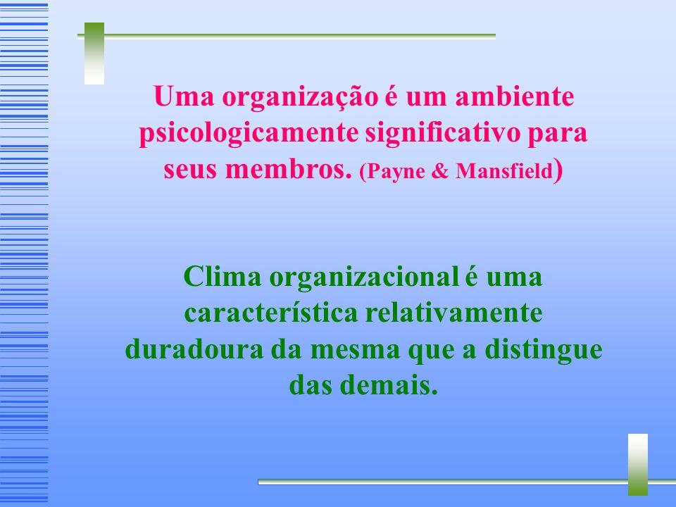 Uma organização é um ambiente psicologicamente significativo para seus membros.
