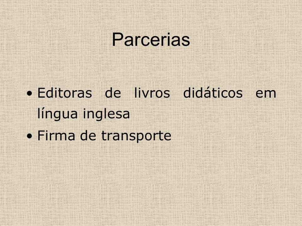 Parcerias Editoras de livros didáticos em língua inglesa Firma de transporte