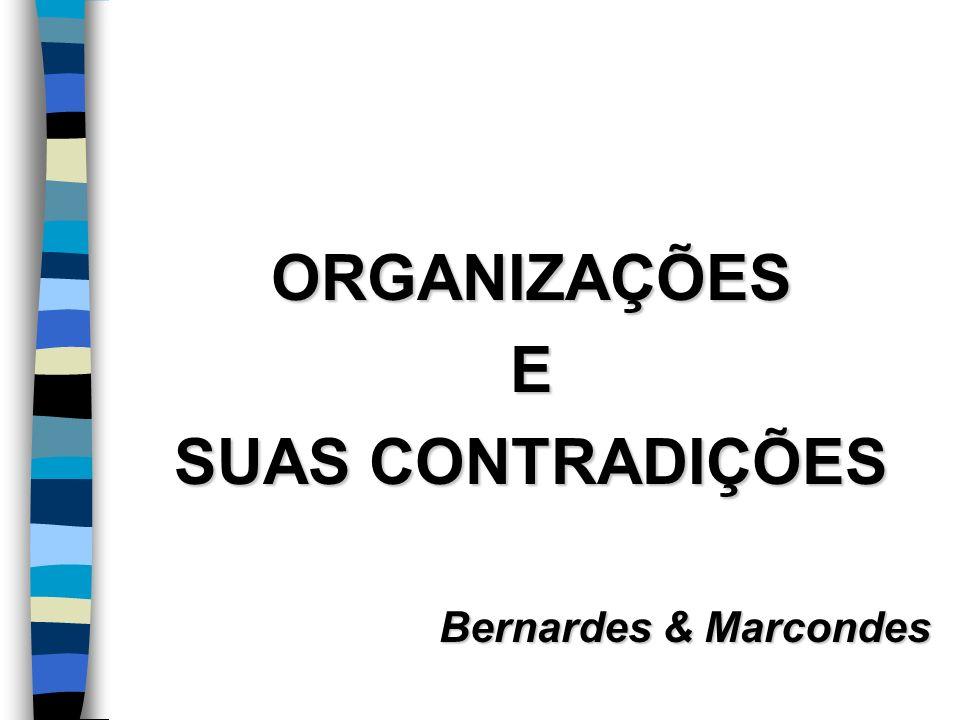 ORGANIZAÇÕESE SUAS CONTRADIÇÕES Bernardes & Marcondes