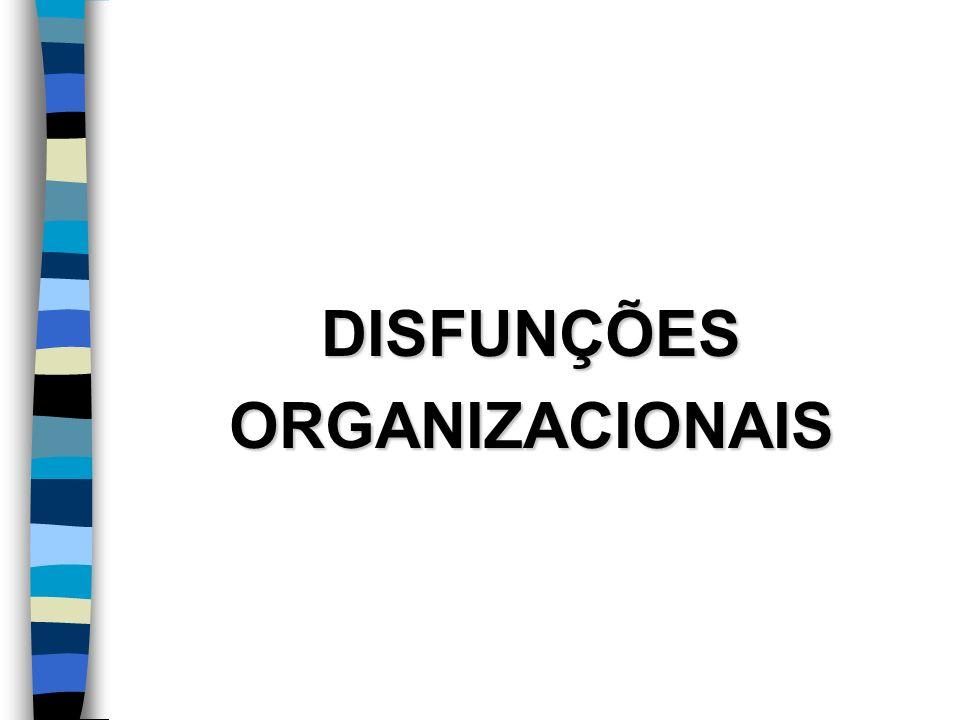 DISFUNÇÕESORGANIZACIONAIS