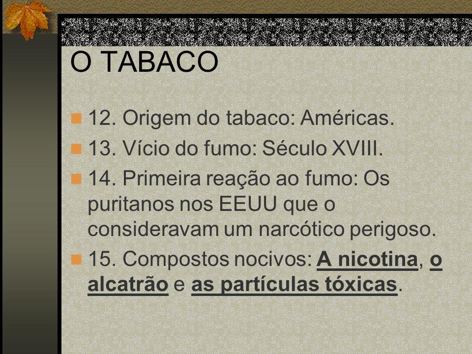 A NICOTINA 1.É um óleo incolor e transparente; um alcalóide.