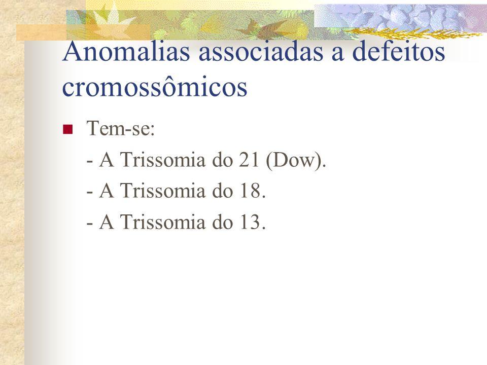 Malformações da cabeça - Congênitas associadas a defeitos cromossômicos. - Hidrocefalia congênita. - Crânio bífido. - Cranioestenose. - Arnold-Chiari.