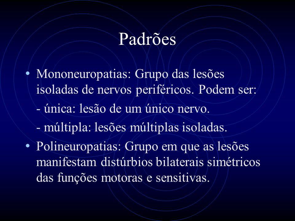 Padrões Mononeuropatias: Grupo das lesões isoladas de nervos periféricos.