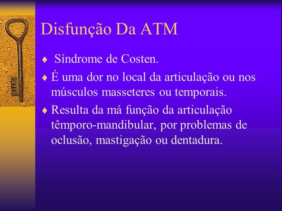 Disfunção Da ATM Síndrome de Costen.