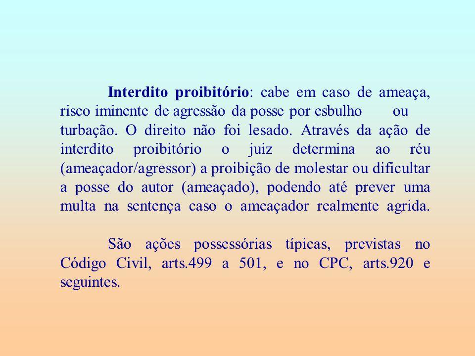 Princípio da fungibilidade das ações possessórias.