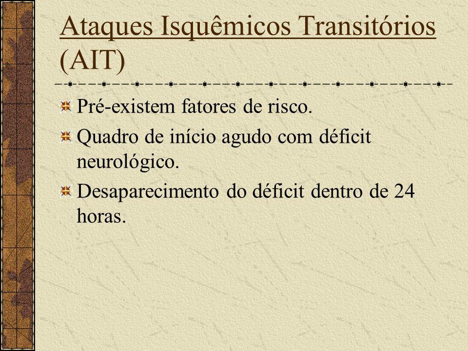 Hemorragia Intra-ventricular Quando rompe dentro de um ventrículo ou evolua de uma intra-parenquimatosa. Os mais comuns são os da cápsula interna que