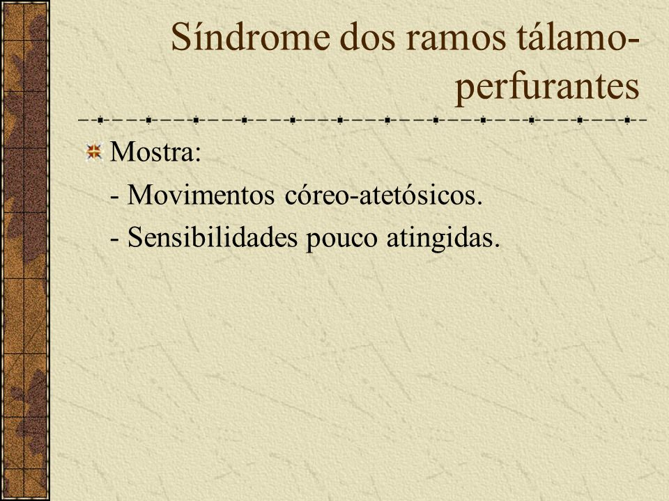 Síndrome Dos Ramos calcarinos Mostra: - Hemianopsia homônima.