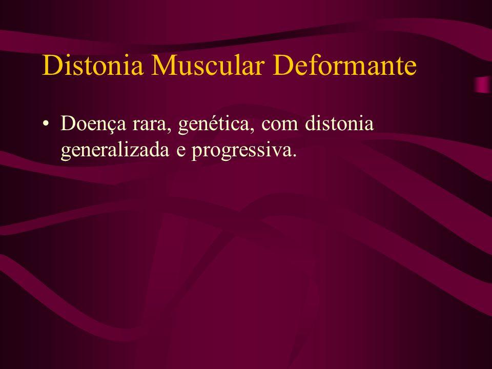 Distonias Generalizadas Distonia muscular deformante. Distonia responsiva a Levodopa.