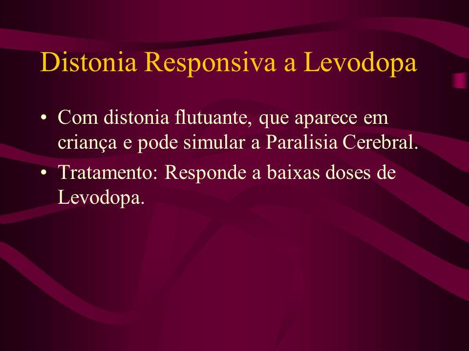Distonia Muscular Deformante Doença rara, genética, com distonia generalizada e progressiva.